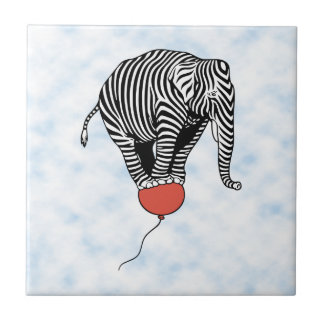 FLying Elephant Zebra Tile