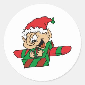 Flying Elf Classic Round Sticker