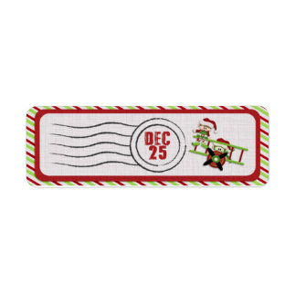 Flying Elves postage delivery labels