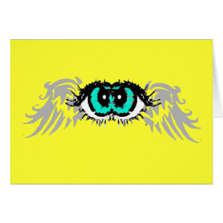 Flying Eyes GREETING CARD