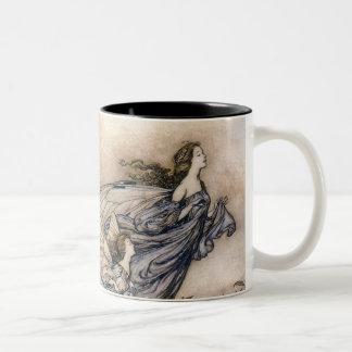 Flying Fairies Two-Tone Coffee Mug
