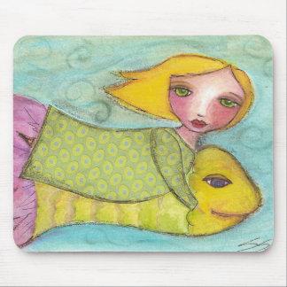 Flying Fantasy Fish Kids Mouse Pad