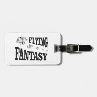 flying fantasy horse bag tag