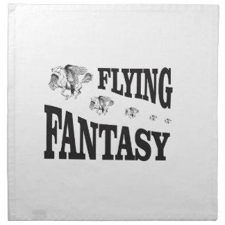 flying fantasy horse napkin