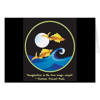 Flying Fish in Moonlight Card