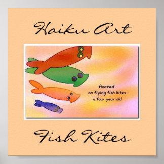 Flying Fish Kites Print