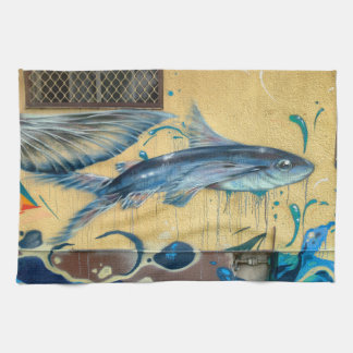 Flying Fish No.3 Kitchen Towel
