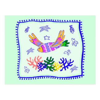 Flying Fish Quilt Postcard