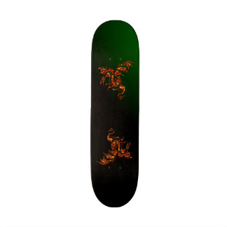 Flying Flame Dragon Green Skate Board Deck