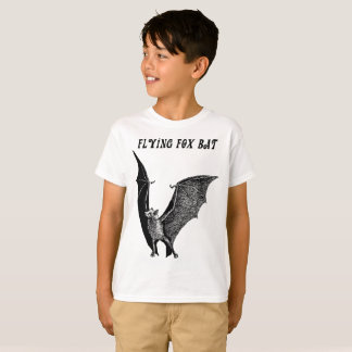 Flying Fox Bat Animal Art Boys T shirt