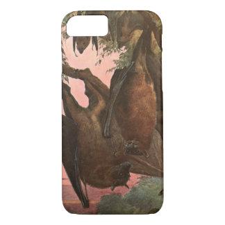 Flying Fox Bats by Austen, Vintage Wild Animals iPhone 8/7 Case
