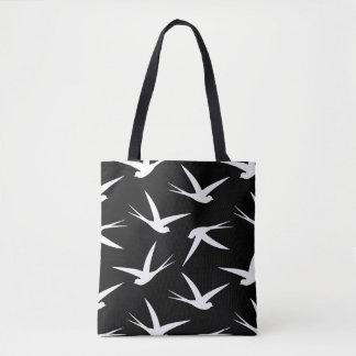 Flying Free Elegant Bird Pattern Tote Bag