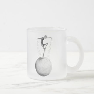 Flying Frosted Glass Coffee Mug