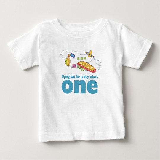 Flying Fun for a Boy Who's 1 Baby T-Shirt