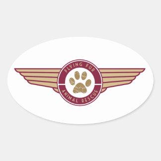 Flying Fur - Airline Logo sticker