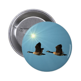 Flying Geese 2 Inch Round Button