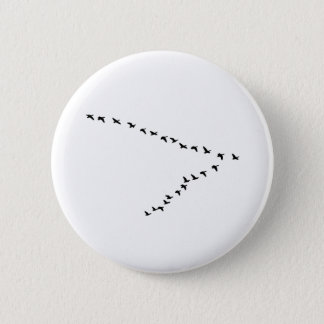 """Flying Geese """"V"""" Formation 2 Inch Round Button"""