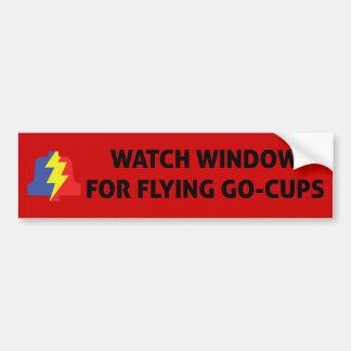 Flying Go Cups Bumper Sticker