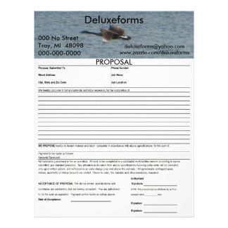 Flying Goose Proposal Personalized Letterhead