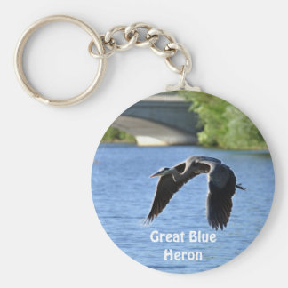 Flying Great Blue Heron Key-chains Keychain