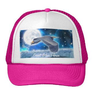 Flying Great Blue Heron & Waterfall Hat