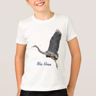 Flying Great Blue Heron Wildlife T-Shirt