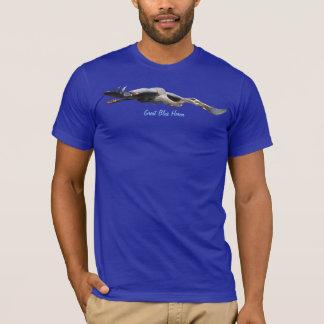 Flying Great Blue Heron Wildlife T-Shirt