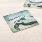 Flying Green Sea Turtle | Paper Coasters