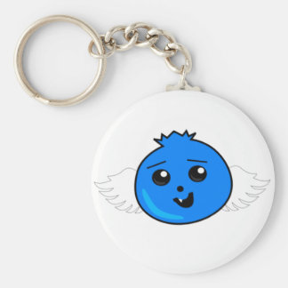Flying Happy Blueberry Basic Round Button Keychain