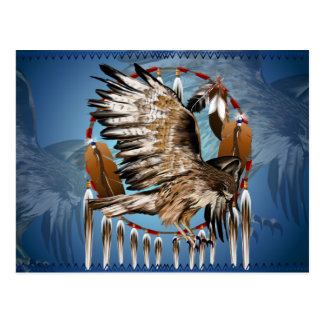 Flying Hawk Dreamcatcher Postcard
