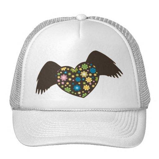 Flying Heart Trucker Hats