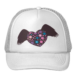 Flying Heart - Violet Trucker Hat