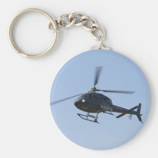 Flying helicopter keychain