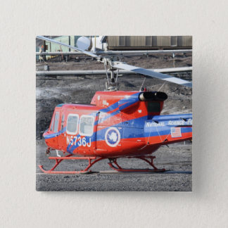 Flying Helicopters 2 Inch Square Button