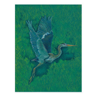 Flying Heron Postcard
