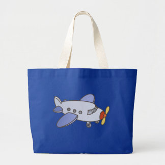Flying High Airplane Large Tote Bag