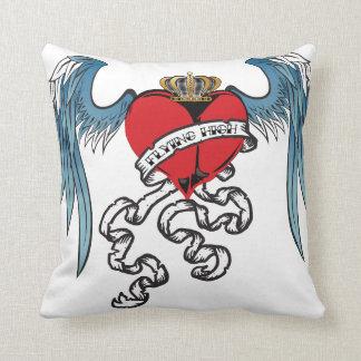 Flying High Heart Tattoo Pillow