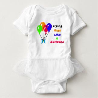 Flying high like a balloons baby bodysuit