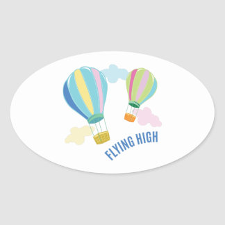 Flying High Oval Sticker