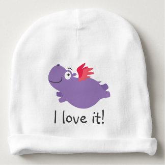 Flying Hippo Illustration Baby Beanie