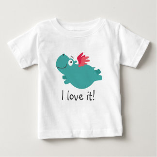 Flying Hippo Illustration Baby T-Shirt