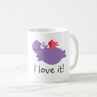 Flying Hippo Illustration Coffee Mug