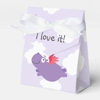 Flying Hippo Illustration Favor Box