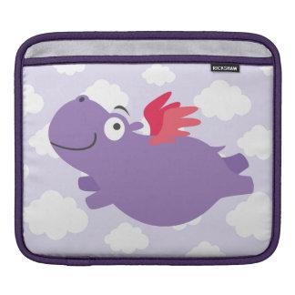 Flying Hippo Illustration iPad Sleeve