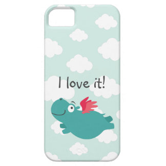 Flying Hippo Illustration iPhone 5 Cover