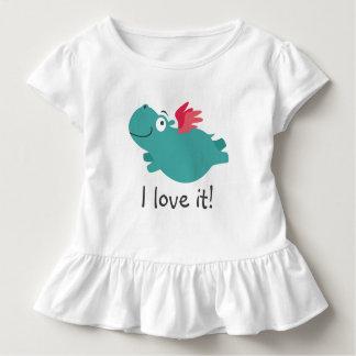 Flying Hippo Illustration Toddler T-shirt