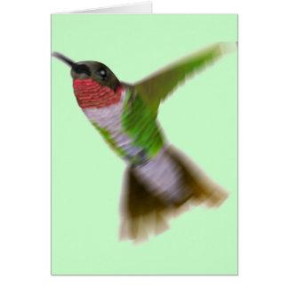 Flying Hummingbird Card