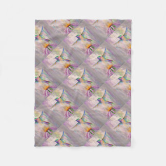 Flying Hummingbird Fleece Blanket