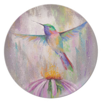 Flying Hummingbird Plate