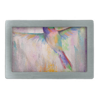 Flying Hummingbird Rectangular Belt Buckles